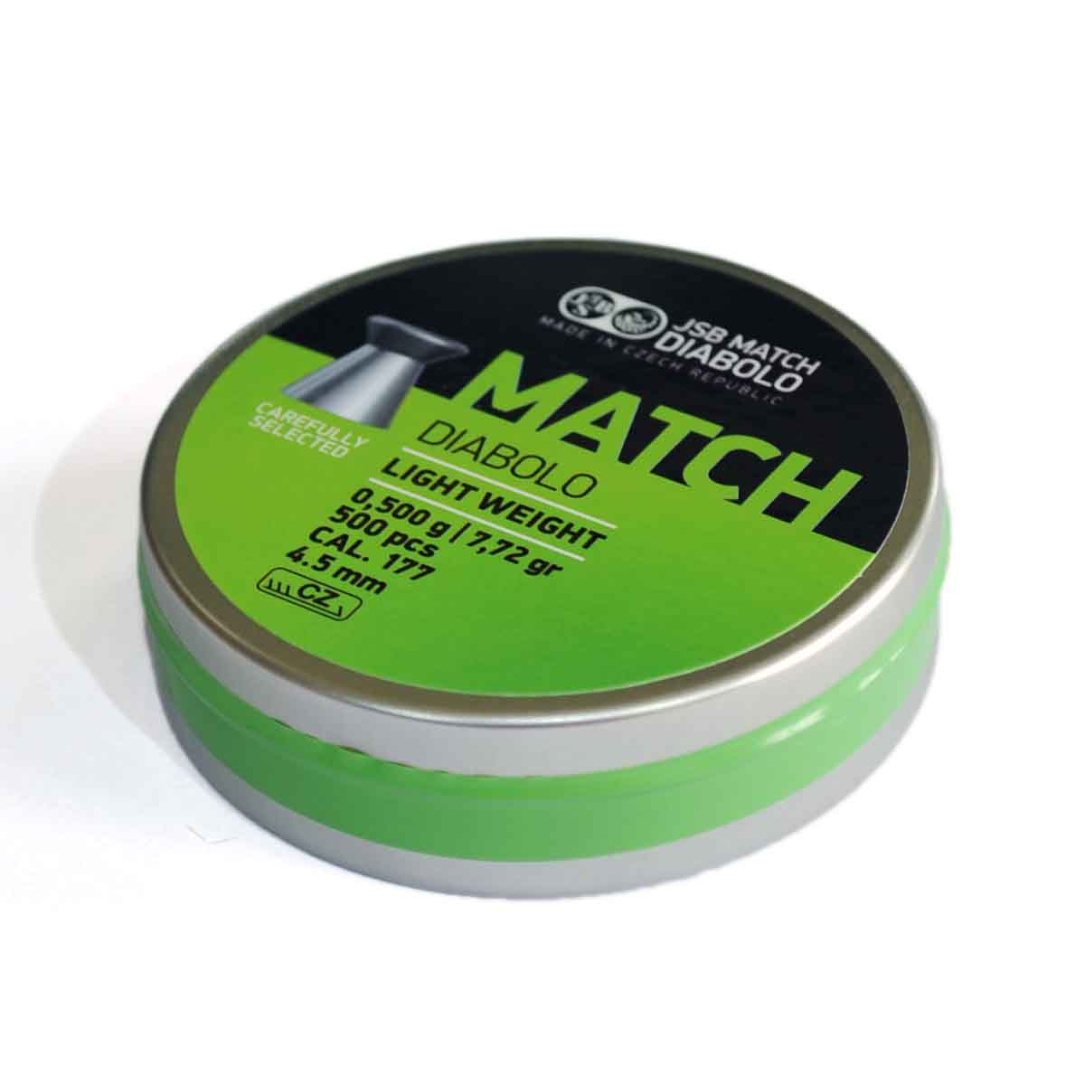 Green Match JSB DIABOLO Light Weight .177 Cal