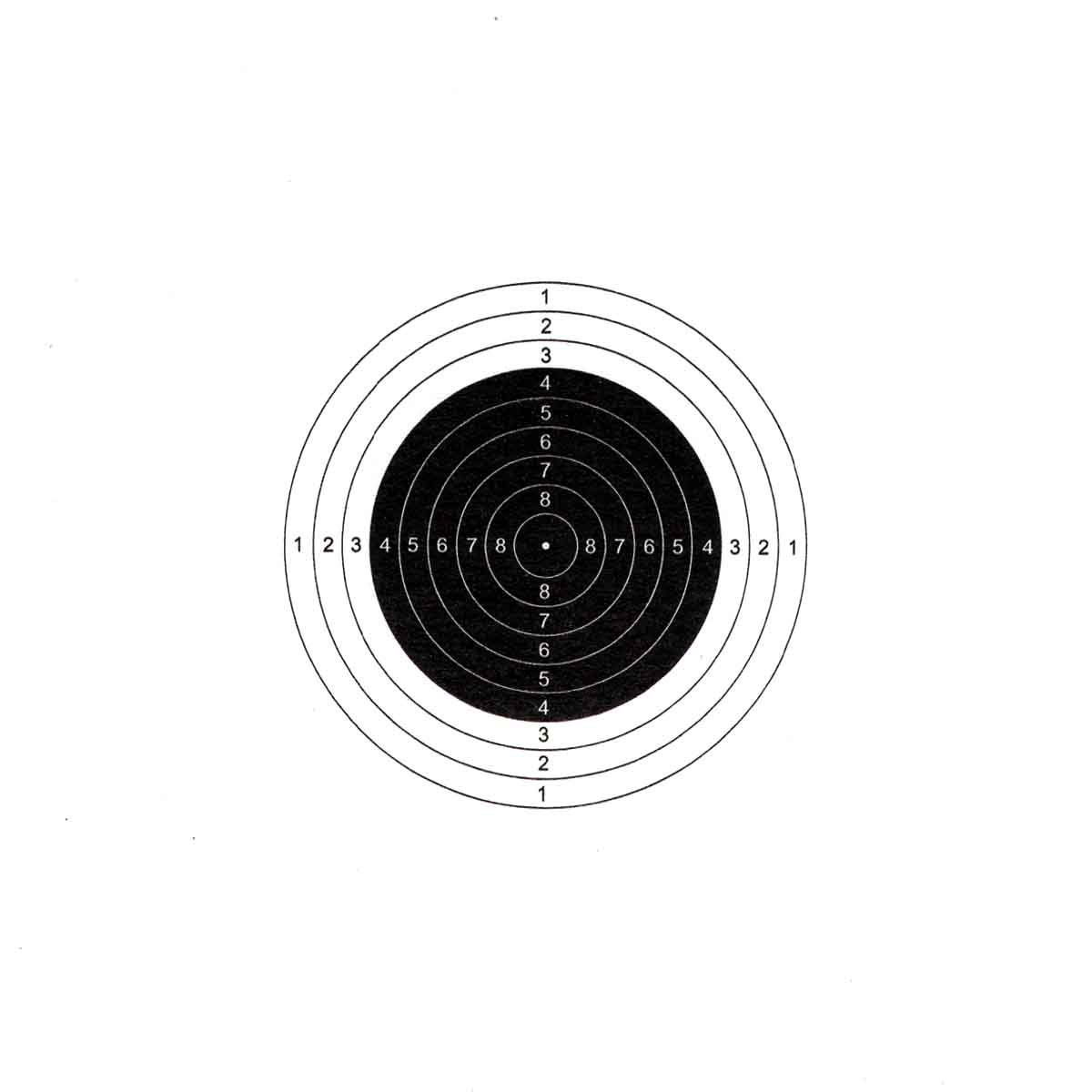 Air Rifle Target Paper (Set of 100)