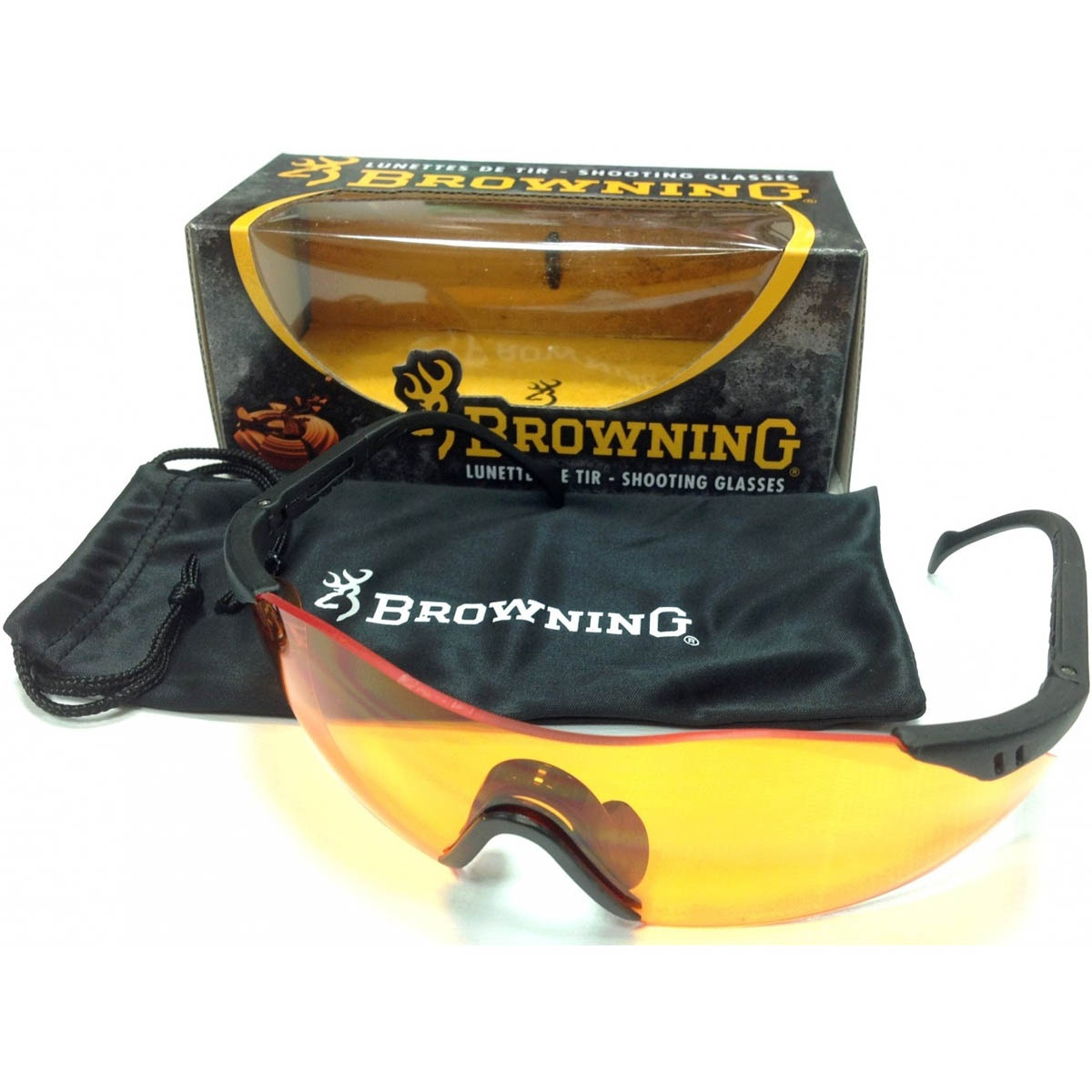 Browning Claybuster Shooting Glasses - Orange