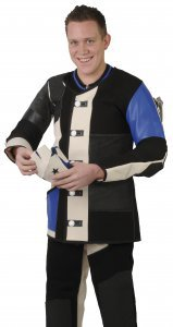 AHG-Jacket Model ECONOMY with anti-slip rubber padding, blue-black-white-Size 56