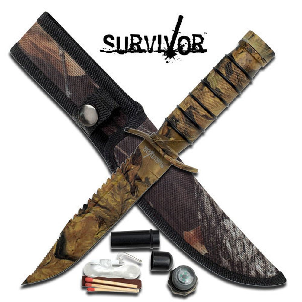 "Survivor Fixed Blade Knife 9.5"" Overall"